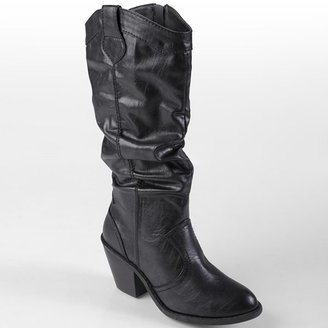 Journee Collection steph slouch western boots - women