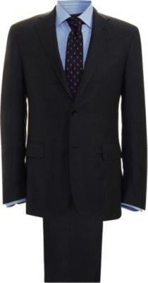 Barneys New York Solid Wool Suit