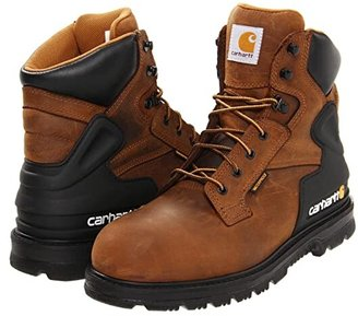 Carhartt 6 Steel Toe Waterproof Work Boot (Brown) Men's Work Lace-up Boots