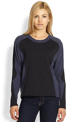 LnA Armor Geometric Colorblock Sweater