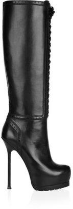 Yves Saint Laurent Tribtoo leather knee boots