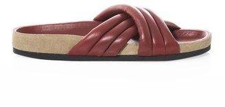 Isabel Marant Holden cross-front slides
