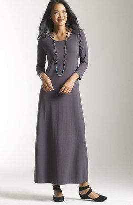 J. Jill Wearever 3/4-sleeve scoop-neck maxi dress