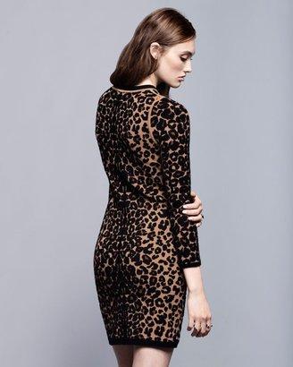 A.L.C. Exclusive Leopard Longsleeve Knit Dress