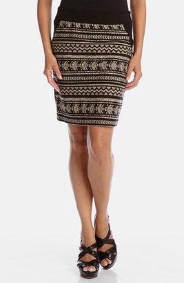 Karen Kane 'Fiji' Jacquard Front Skirt
