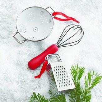 Sur La Table White Colander Ornament
