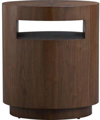 Crate & Barrel Tambe Walnut Side Table