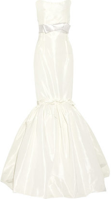 Lanvin - Strapless Faille Gown - White $8,380 thestylecure.com