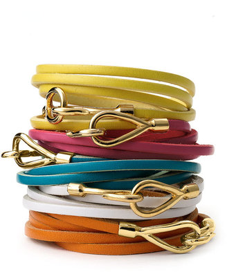 Cara Couture Leather Wrap Bracelet