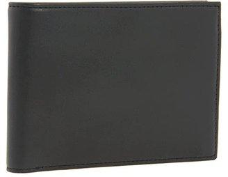 Bosca Nappa Vitello Collection - Credit Wallet w/ ID Passcase (Black Leather) Bi-fold Wallet