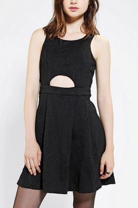 Silence & Noise Silence + Noise Petra Embossed Cutout Dress