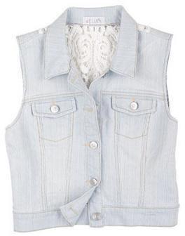 Delia's Crochet Back Indigo Vest