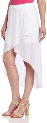 Amy Byer A. Byer Juniors Gauzy Texture High/Low Skirt