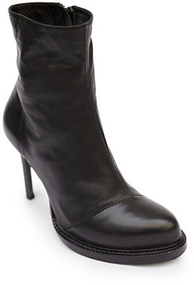 Ann Demeulemeester Leather Platform Ankle Boots