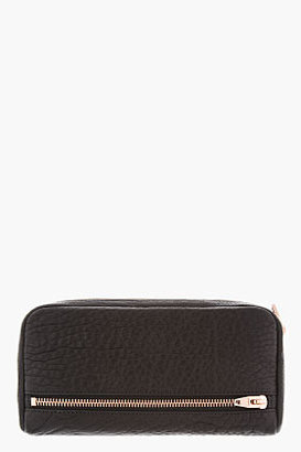 Alexander Wang Black Leather Rosegold Fumo Continental Wallet