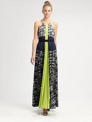 BCBGMAXAZRIA Constantine Woven Maxi Dress