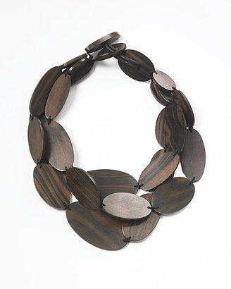 Bloomingdale's Monies Triple Wood Necklace