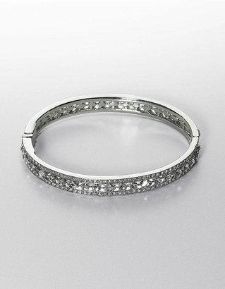 Carolee Crystal Pave Hinged Bangle Bracelet