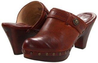 Frye Audra Button Heel (Bordeaux) - Footwear