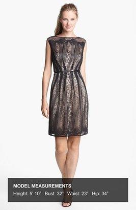 Adrianna Papell Pleated Lace Dress (Regular & Petite)