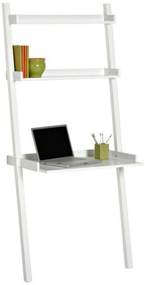Container Store Linea Leaning Desk White