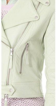 Club Monaco Davie Leather Moto Jacket