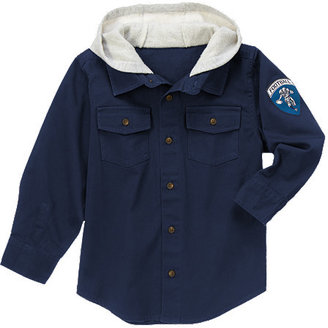 Gymboree Hooded Football Shacket