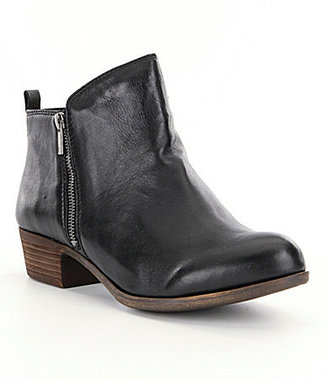 Lucky Brand Basel Smooth Leather Zip Booties $99.99 thestylecure.com