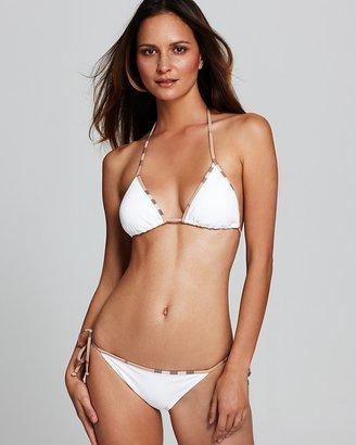 Burberry Check Border Triangle String Bikini