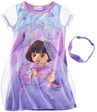 Dora the Explorer Toddler Girls Sleepwear Short-Sleeve Night Gown