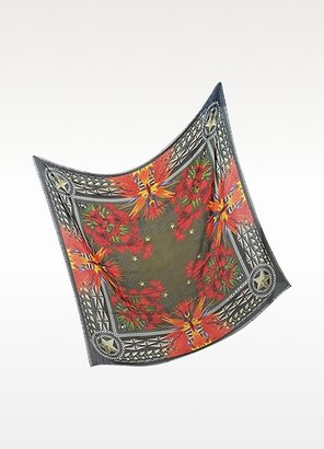 Givenchy Floral Print Modal and Cashmere Oversize Scarf