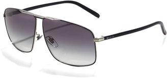Gucci Metal Logo Aviator Sunglasses, Blue