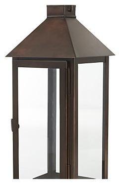 Crate & Barrel Knox Large Bronze Metal Lantern
