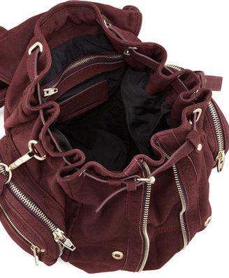 Alexander Wang Marti Convertible Nubuck Backpack, Raisin