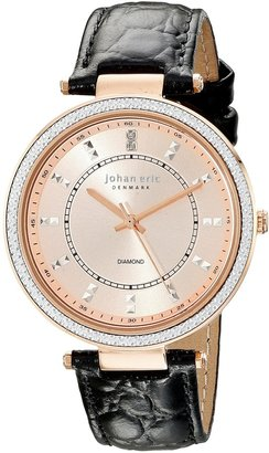 Johan Eric Women's JE1000B-09-007 Ballerup Analog Display Quartz Black Watch