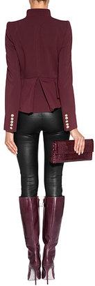 Just Cavalli Peplum Jacket in Dark Red