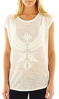 Mng by Mango® Embroidered Eagle Sleeveless Top