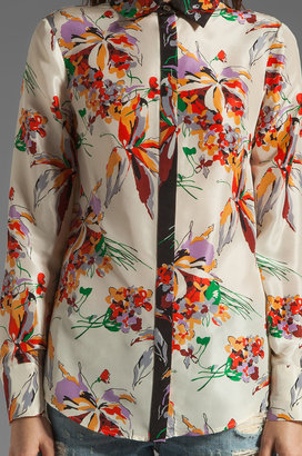 Derek Lam 10 CROSBY Long Sleeve Blouse