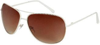 Arden B White Rose Aviator Sunglasses