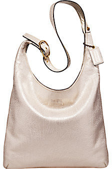 Coach Delphine Metallic Leather