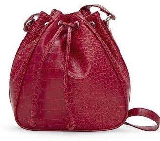 MANGO TOUCH - Crocodile effect bucket bag