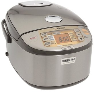 Zojirushi NP-HTC10XJ Induction Heating 5.5 Cup Rice Cooker Warmer (Stainless Steel) - Home