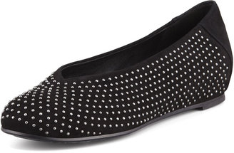 Eileen Fisher Patch 2 Suede Studded Flats, Black