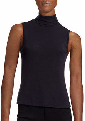 Theory Wendel Ribbed Jersey Turtleneck Top