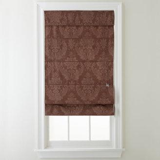 Royal Velvet Damask Jacquard Fabric Roman Shade