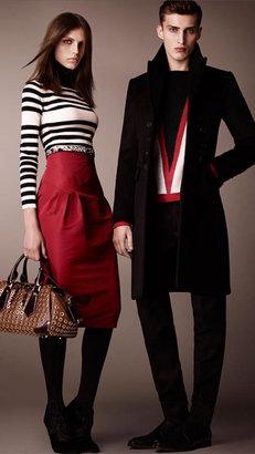 Burberry Striped Wool Silk Sweater