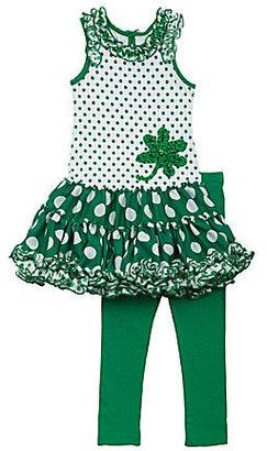 Rare Editions St. Patrick's Day Tutu-Skirted Dress & Leggings Set