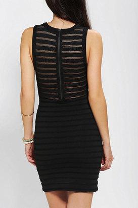 Silence & Noise Silence + Noise Illusion Stripe Bodycon Dress