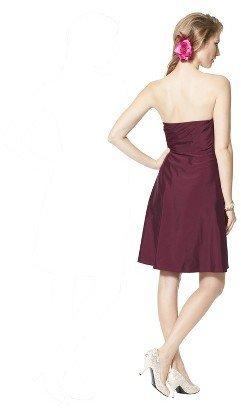TEVOLIOTM Women's Strapless Taffeta Dress w/Ruffle - Fashion Colors