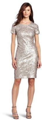 Jones New York Women's Sequins Short-Sleeve Dress